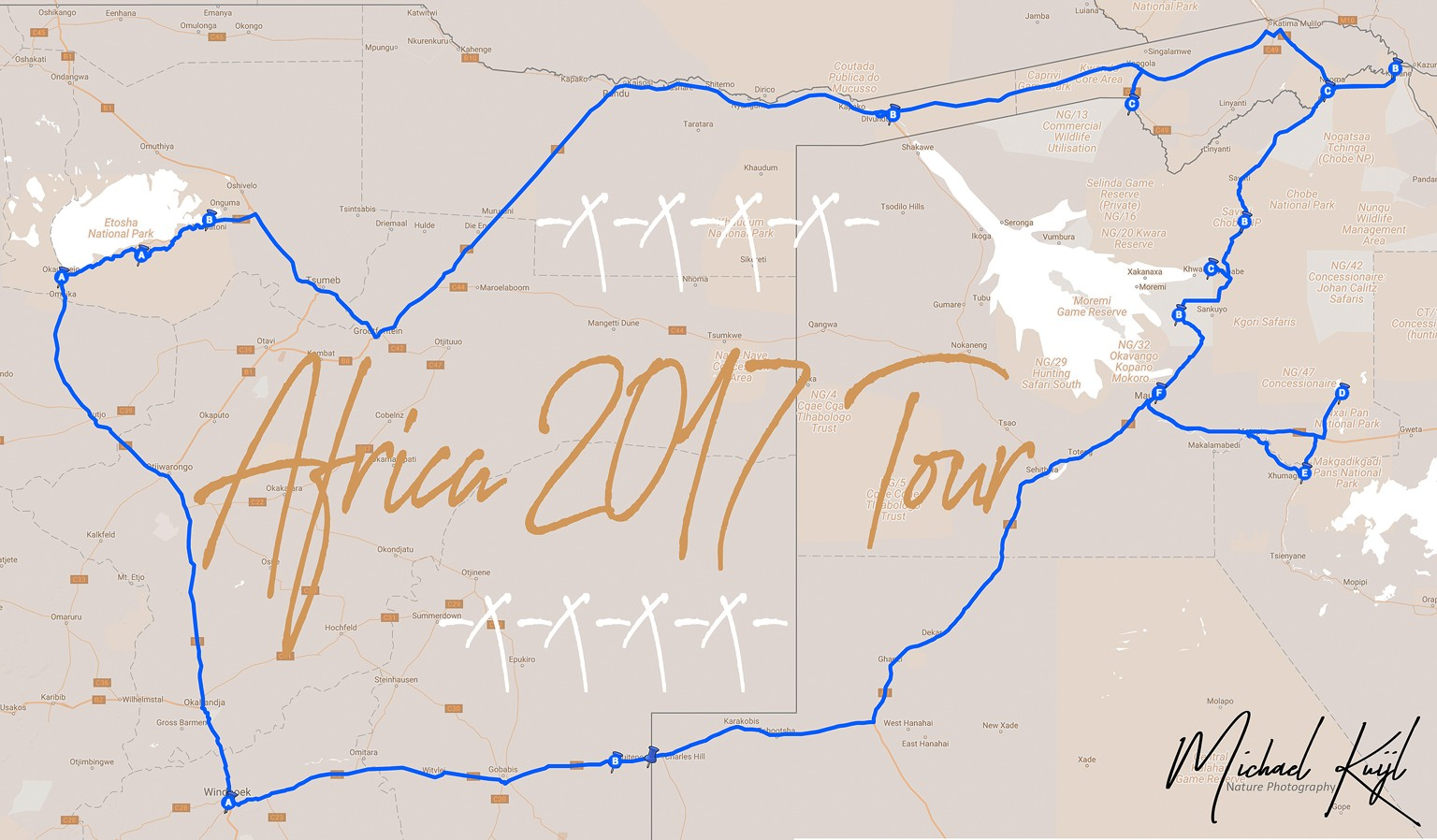 Self-drive/guided 4x4 Camping Photo trip Namibia & Botswana