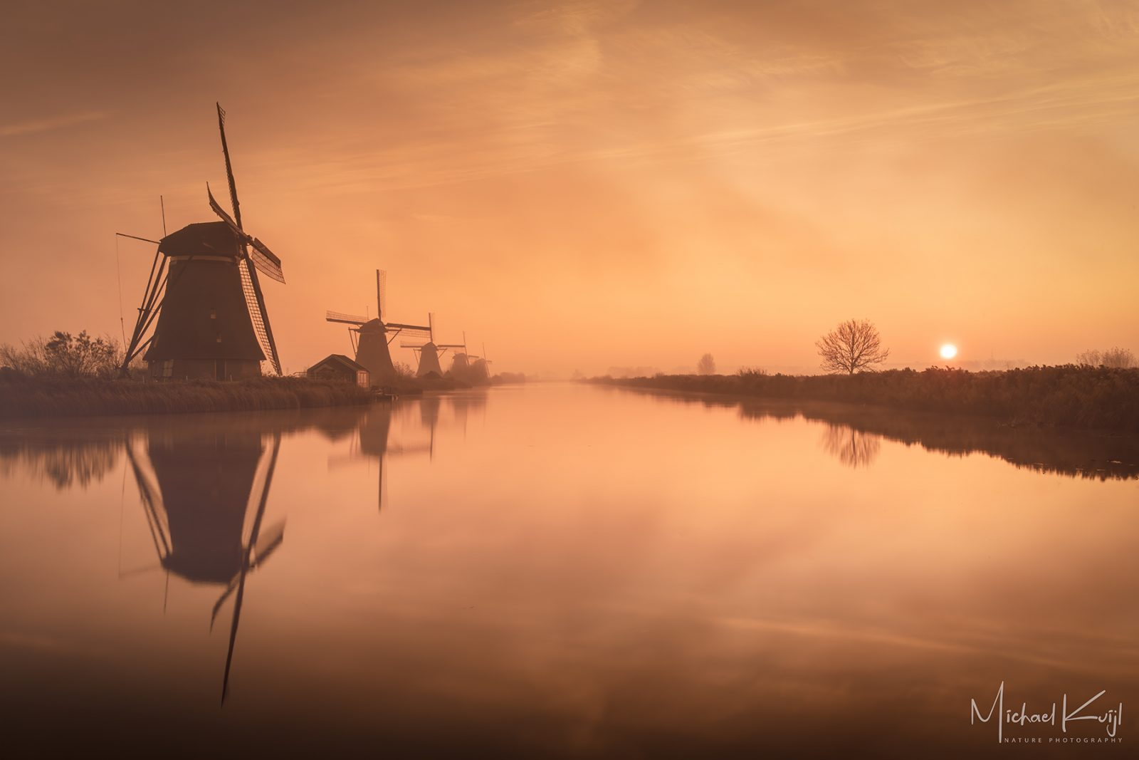 Sunrise at Kinderdijk